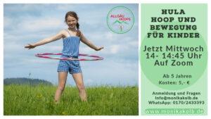 Hoop Kids & Bewegung - Online auf Zoom @ Online Zoom Kurs